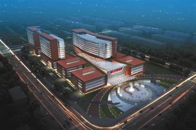 朝阳医院东院区规划设计图.北京市发改委供图图片